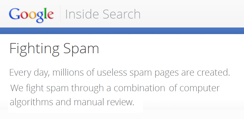 manual google spam action