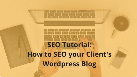 SEO Tutorial- How to SEO your Client's WordPress Blog