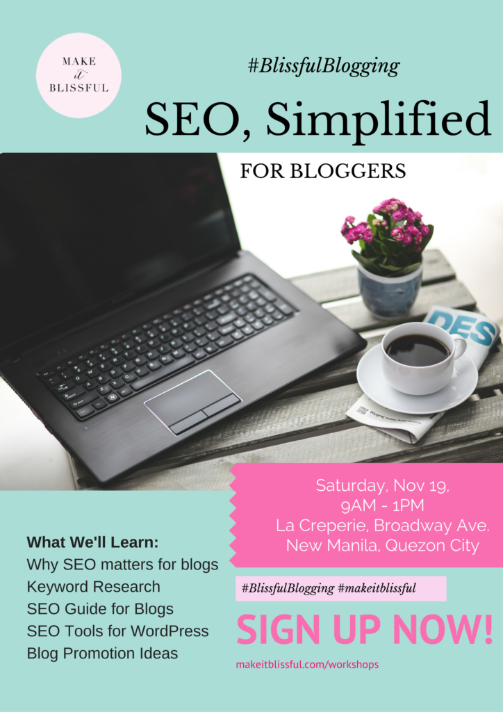 SEO Simplified for Bloggers Workshop