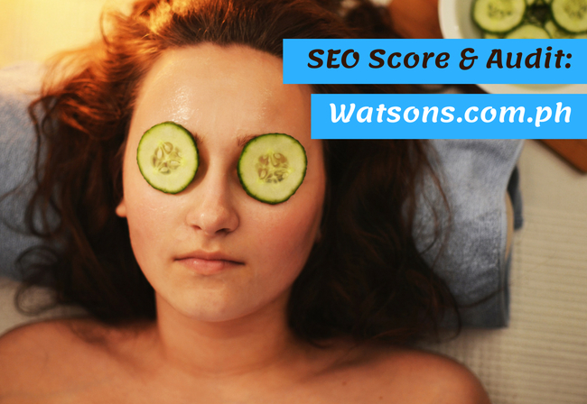 Watsons.com.ph SEO Score & Review